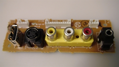 Picture of 313926717411, 31391236135.1, 313912361351, Side A/V Rear, AV INPUT SIDE, PHILIPS AV SIDE, NEB, PA04
