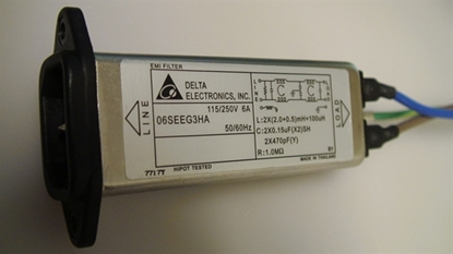 Picture of 06SEEG3HA, PHILIPS 50 PLASMA TV AC NOISE FILTER, EMI FILTER, PHILIPS AC FILTER, 50PFP5332D/37, 50PFP5332D, AC FILTER LINE, AC NOISE FILTER LINE, NEB, 6A