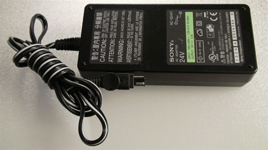 Picture of 1-479-280-31, AC-S24V1, E133304, SONY CAMCORDER ADAPTER CHARGE, COMPUTER AC ADAPTER CHARGE, 24V ADAPTER, NEB, 4V1