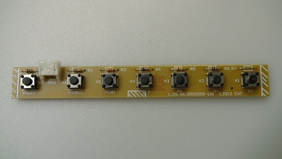 Picture of 0002000-101, 1.05.06.0002000-101, SE322FS, SEIKI 32 LED TV KEY PAD FUNCTION, TV KEY BOARD
