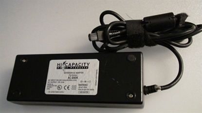 Picture of AC-B40K, LE-0317AS120A, E133851, HICAPACITY POWER SUPPLY CHARGE, TOSHIBA COMPUTER ADAPTER CHARGE, COMPUTER AC ADAPTER CHARGE, 15V ADAPTER, NEB, ACB40