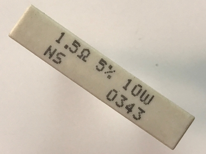 Picture of Resistor: 1.5ohm 10W; 1.5Ω 5% 10w NS 0343